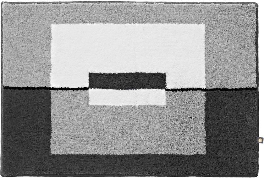 rhomtuft badteppich cube edelstahl zink weiss schwarz badteppiche bei tepgo kaufen. Black Bedroom Furniture Sets. Home Design Ideas