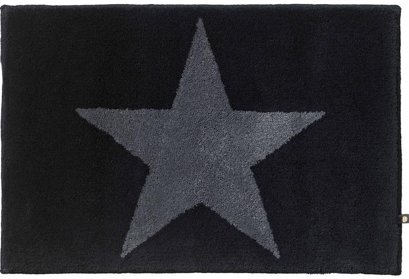 RHOMTUFT Badteppich STAR schwarz/graphit