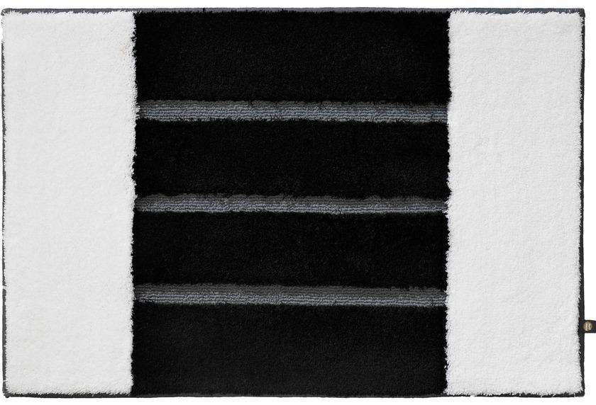 rhomtuft badteppich step weiss schwarz blei badteppiche bei tepgo kaufen versandkostenfrei. Black Bedroom Furniture Sets. Home Design Ideas