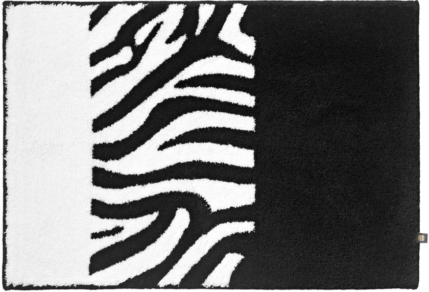 rhomtuft badteppich zebra schwarz weiss badteppiche bei tepgo kaufen versandkostenfrei. Black Bedroom Furniture Sets. Home Design Ideas