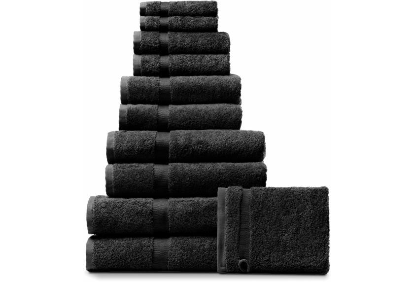 RHOMTUFT Handtuch/Duschtuch PRINCESS, schwarz