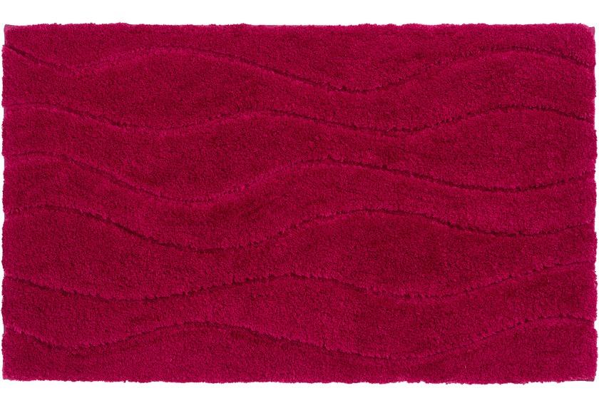 Schöner Wohnen Kollektion Badteppich Santorin D. 002 C. 015 Welle magenta