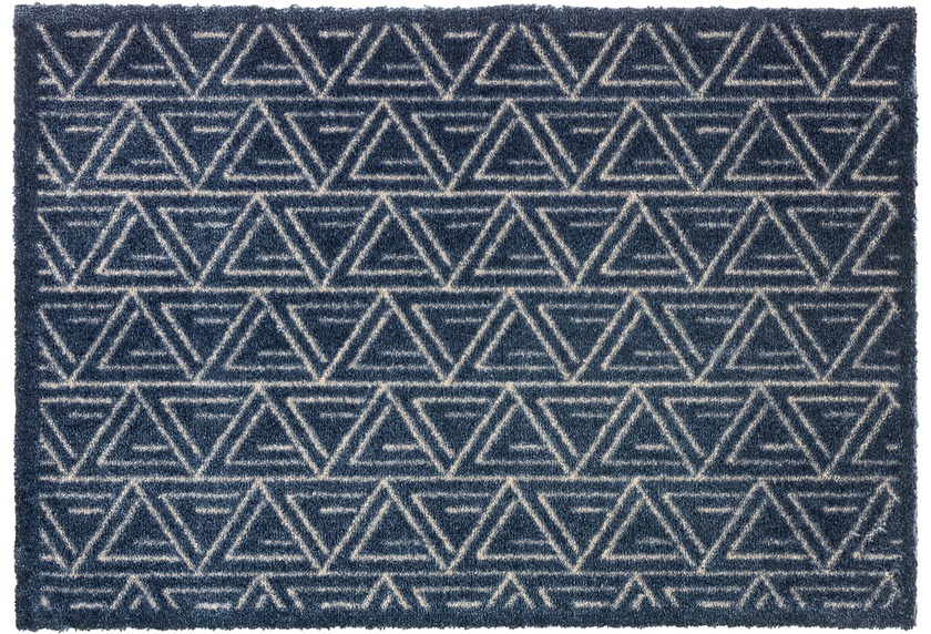 Schöner Wohnen Fußmatte Manhattan Design 005, Farbe 022 Triangle dunkelblau