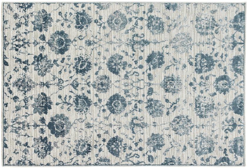 Schöner Wohnen Teppich Brilliance Design 184, Farbe 020 Blumen blau