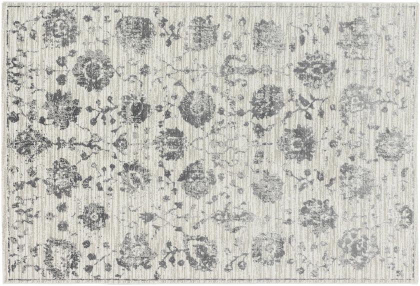 Schöner Wohnen Teppich Brilliance Design 184, Farbe 040 Blumen grau