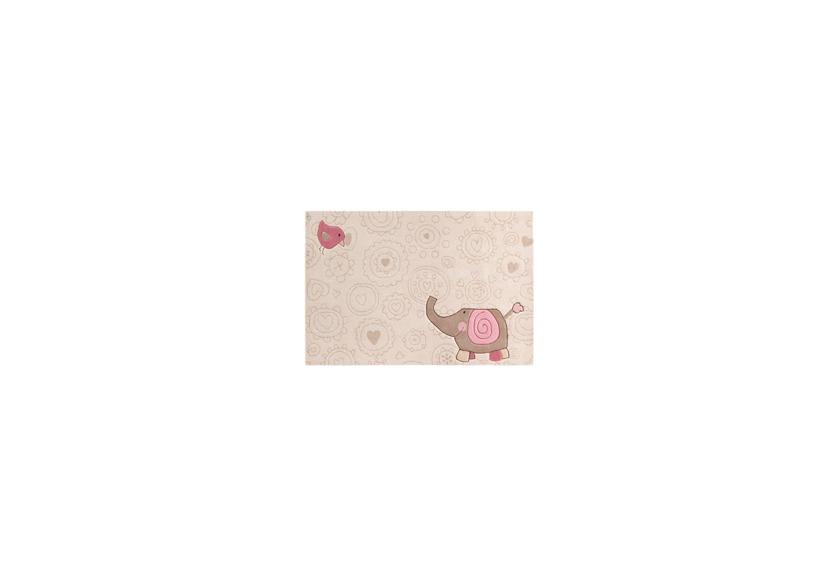 Sigikid Kinder-Teppich, Happy Zoo, Elephant SK-3342 beige