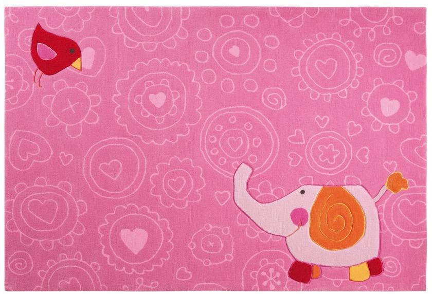Sigikid Kinder Teppich, Happy Zoo, Elephant SK-3342 rosa/pink