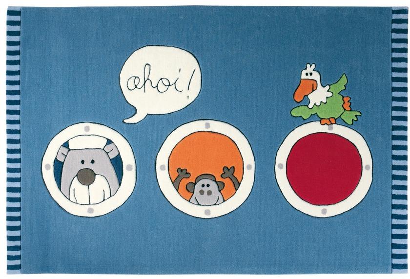 Sigikid Kinder-Teppich, Olaf Laola, Ahoi SK-3344-01 blau