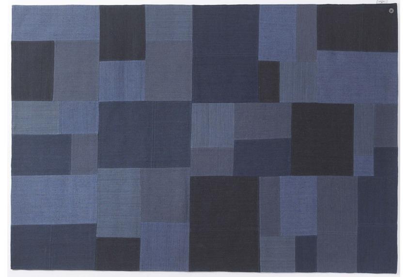 Tom Tailor Teppich Smooth Comfort - Patch Denim blue