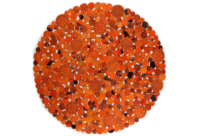 talis teppiche Lederteppich LEATHER, Design 1111 orange