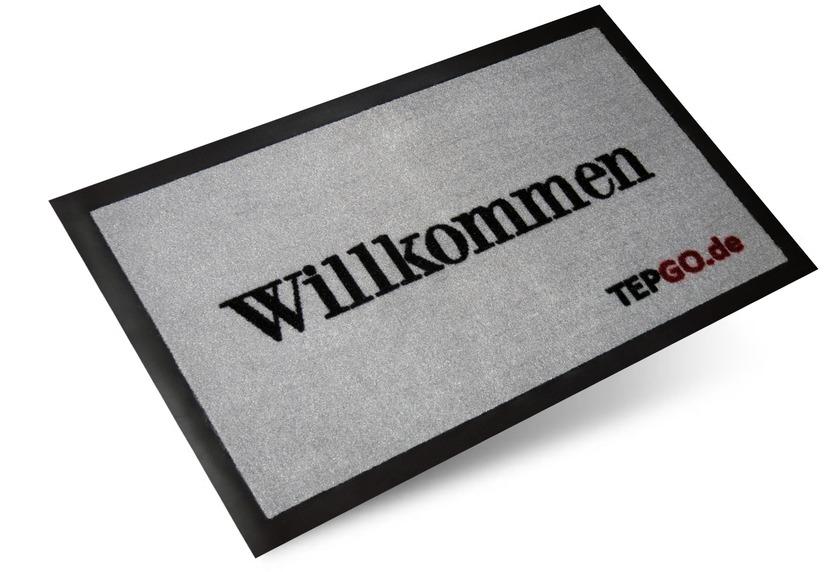 "TEPGO Fussmatte, Schmutzfangmatte \""Willkommen\"""