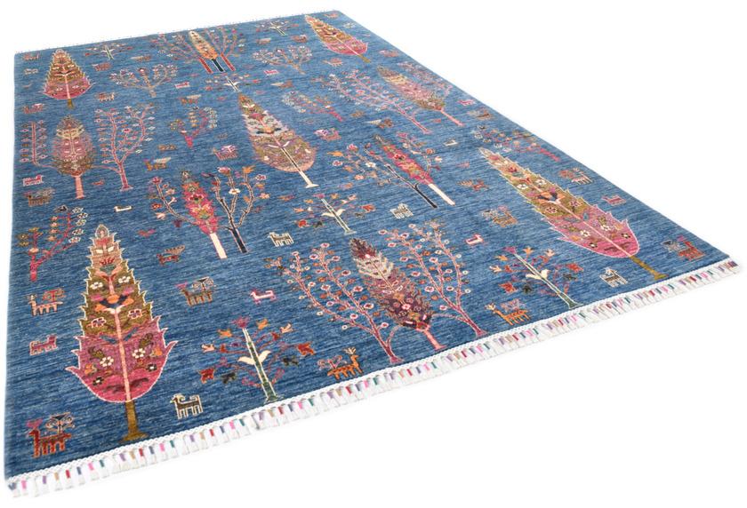 THEKO Orientteppich Kandashah 2725 blue multi 204 x 305 cm