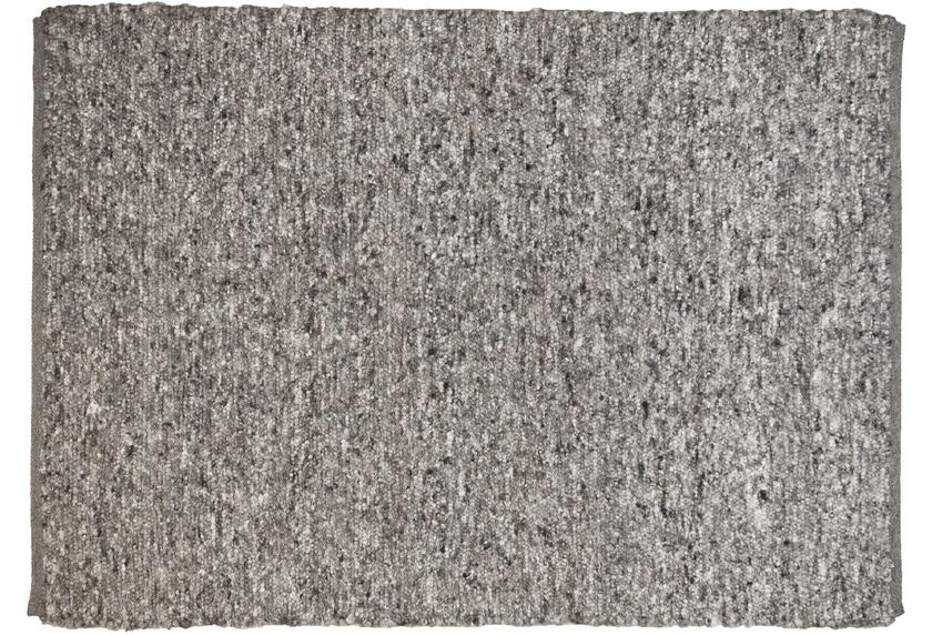 THEKO Handwebteppich Berberina Super uni 655 grau multi
