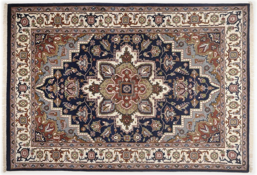 Oriental Collection Heriz Teppich Imperial blau