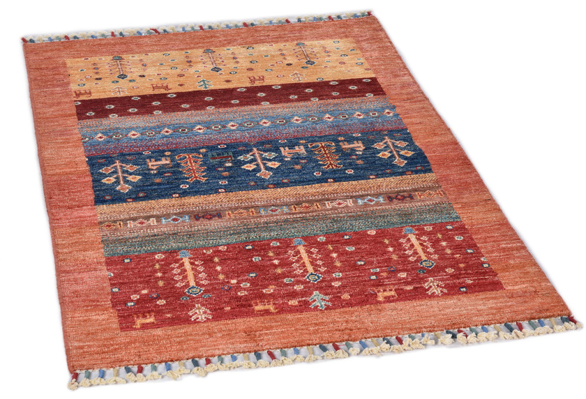 THEKO Orientteppich Kandashah 0058 orange multi 80 x 119 cm