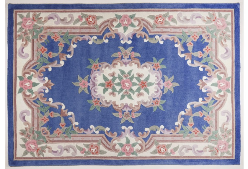 THEKO Teppich Ming, Aubusson 501, blau