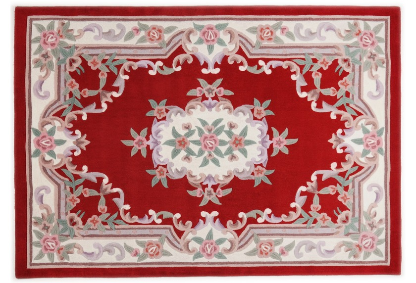 THEKO Teppich Ming, Aubusson 501, rot