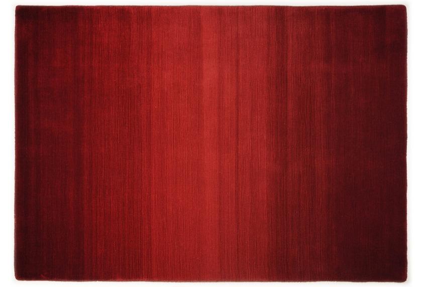 theko teppich wool comfort ombre rot designerteppich bei tepgo kaufen versandkostenfrei. Black Bedroom Furniture Sets. Home Design Ideas