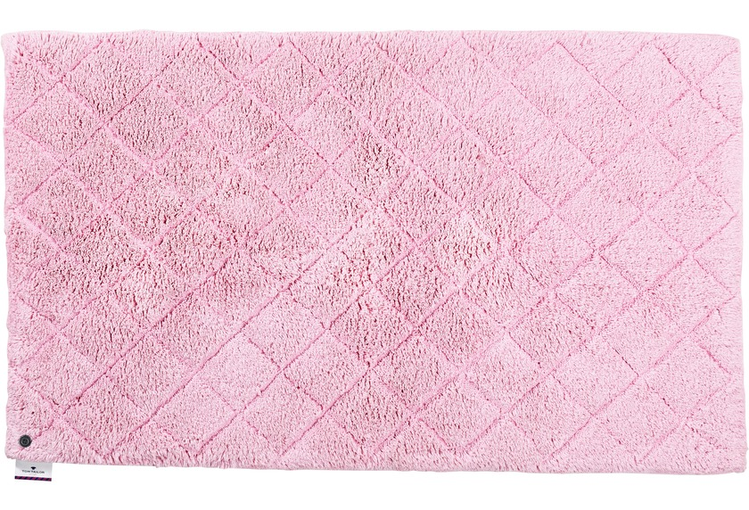 Tom Tailor Badteppich Cotton Pattern diamond 250 rose