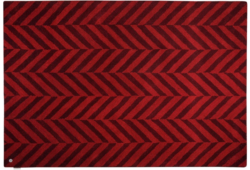 Tom Tailor Teppich Country - Zigzag rot