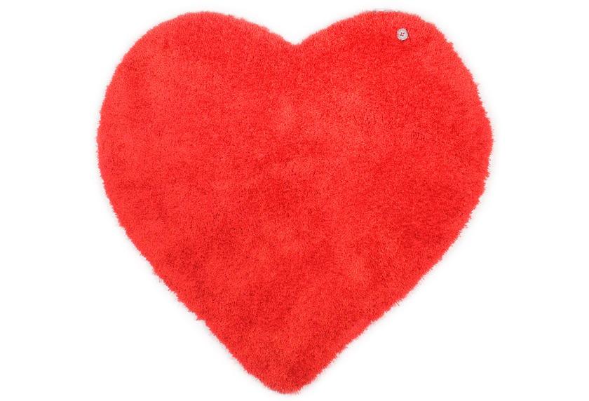 Tom Tailor Kinderteppich Soft Herz rot