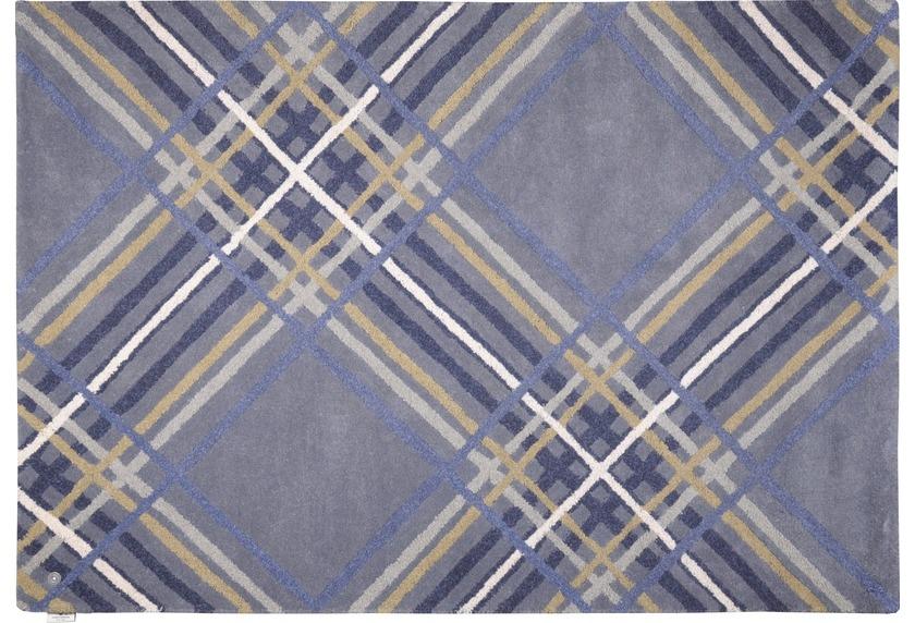 tom tailor teppich home large check blue angebote bei tepgo kaufen versandkostenfrei. Black Bedroom Furniture Sets. Home Design Ideas