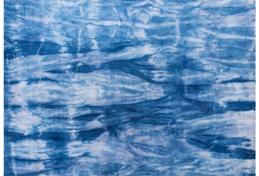 Tom Tailor Viskose-Teppich Shine, uni, Batik 700 blau