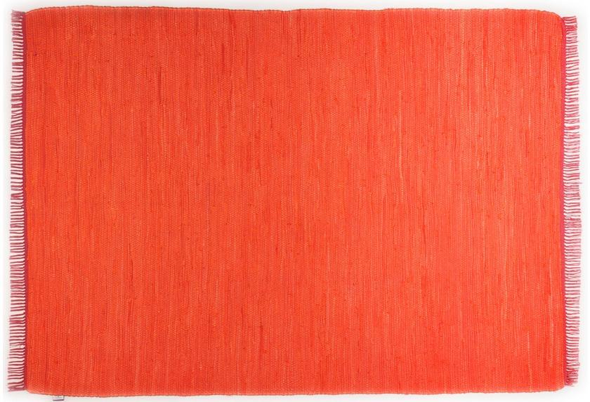 Tom Tailor Handwebteppich Cotton Colors, Uni, orange