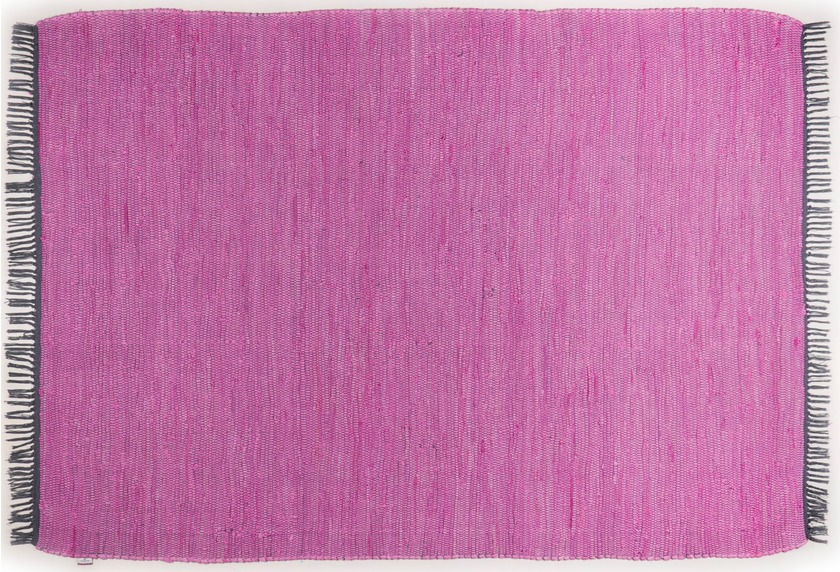 Tom Tailor Handwebteppich Cotton Colors uni purple