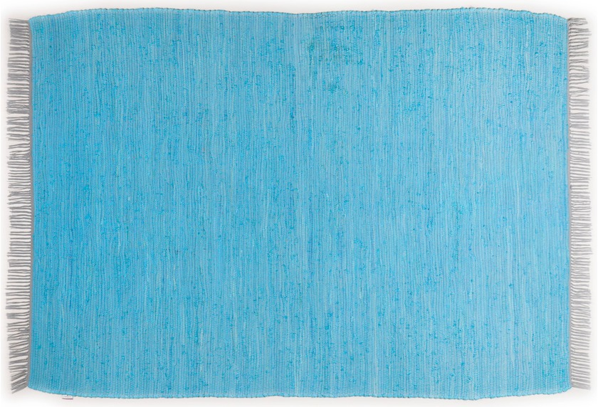 Tom Tailor Teppich Cotton Colors, Uni, türkis