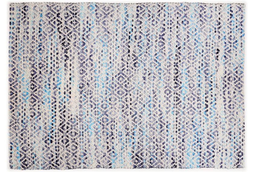 Tom Tailor Handwebteppich Smooth Comfort Diamond blue