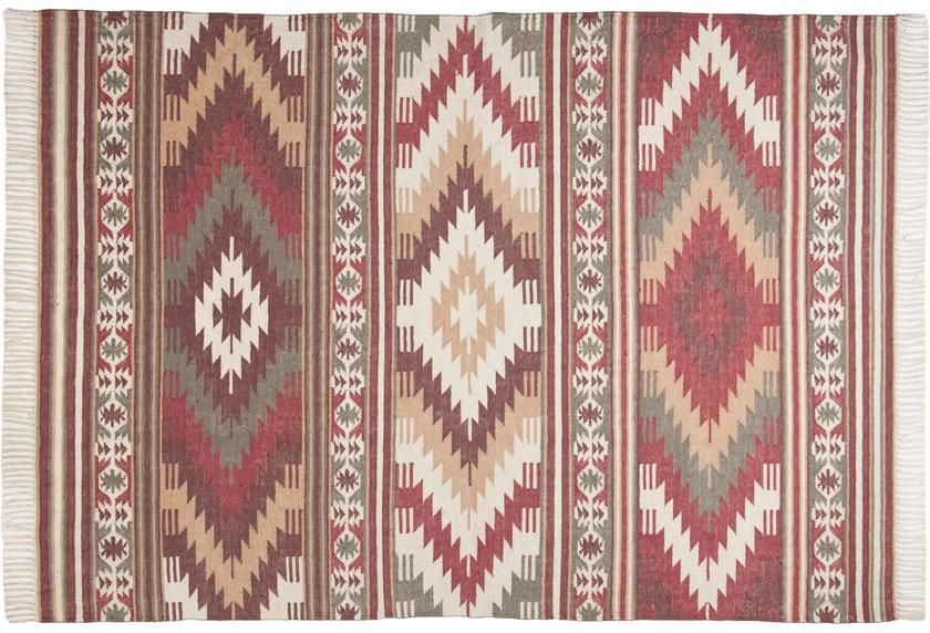 Tom Tailor Handwebteppich vintage, Kelim Colors I, rot