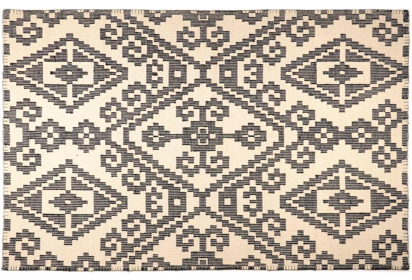 Tom Tailor Vintage-Handwebteppich Large Pattern black