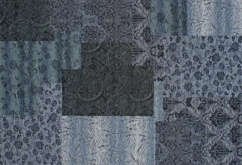 Kelii Patchwork-Teppich Alaska blau