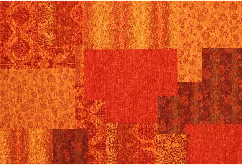 Kelii Patchwork-Teppich Alaska orange