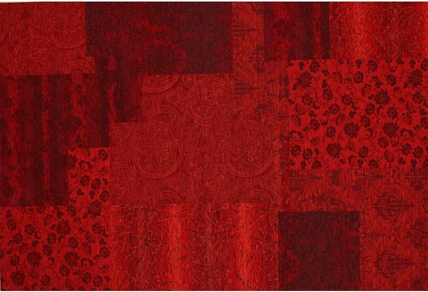 Kelii Patchwork-Teppich Alaska rot