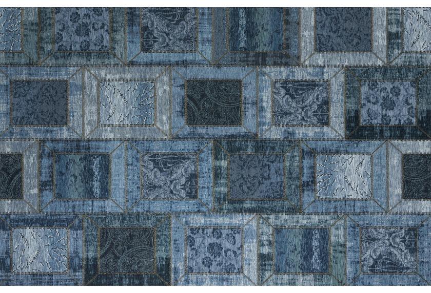 Kelii Patchwork-Teppich Montana jeans