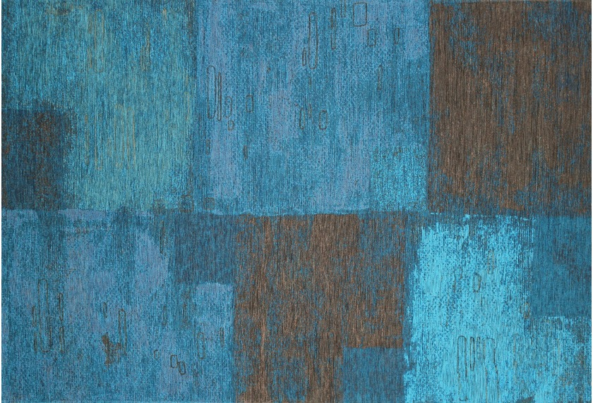Kelii Vintage-Teppich Ontario blau