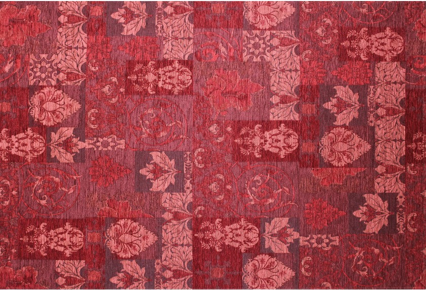 Kelii Patchwork-Teppich Patagonia rot