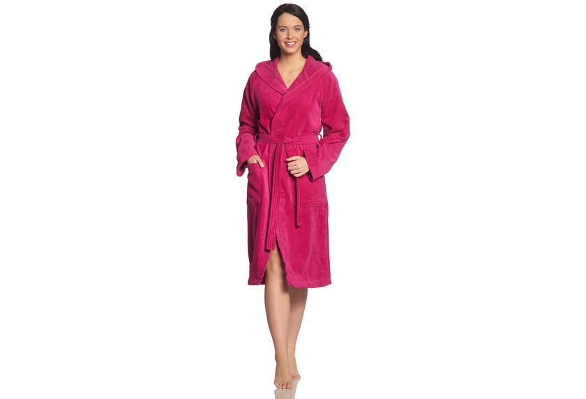 Vossen Unisex-Bademantel Texas cranberry