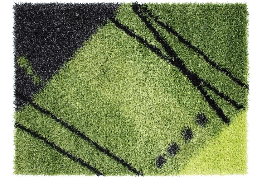 Luxor living lavella grün teppich hochflor teppich bei tepgo