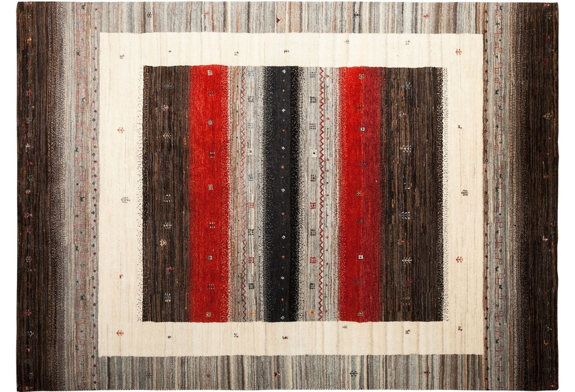 Zaba Gabbeh-Teppich Lorri Fino N-526 mehrfarbig
